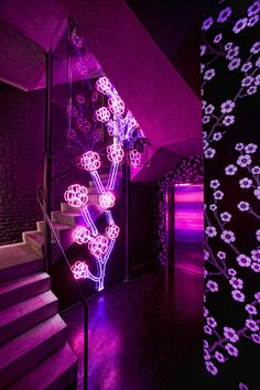 Neon installation by Doug Russell and Steven Espinoza, Flavor Paper studio in Brooklyn, New York.