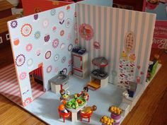 4-Room Foam Core Doll House. (This has Taber family written all over it.  Foam core and playmobile people have had a huge impact on my life.