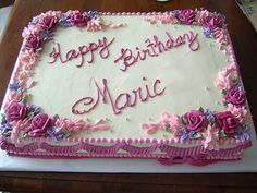 Flower birthday sheet cake | Flickr - Photo Sharing!