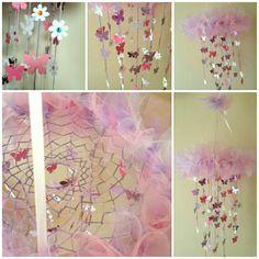 Flower/butterflies dream catcher baby mobile