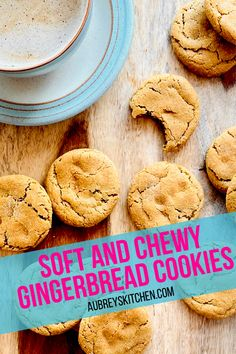 It is never to early to plan your holiday cookie menu! If you love gingerbread cookies and if you love them soft and chewy then this recipe is for you! These pack a spicy gingerbread flavor with a delicious sweetness from the brown sugar and molasses. You won't be able to stop eating them. Sorry! Great thanksgiving or christmas dessert. Roll Cookies, Cake Mix Cookies, Healthy Dessert Options, Chewy Gingerbread Cookies, Pumpkin Spice Syrup, Cookie Calories, Salted Butter, Christmas Desserts, Tray Bakes