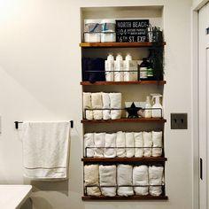 Bathroom/ダイソー/タオル収納/セリア/見せる収納/収納棚...などのインテリア実例 - 2017-04-21 06:21:49