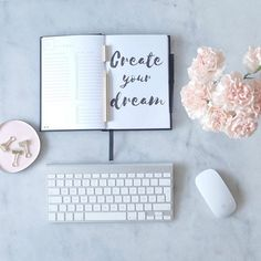 D R E A M // You are 100% responsible for your life and how you perceive it. Take charge and CREATE YOUR DREAM! #quoteoftheday #byallthings #workforit #productivity #Planner #flowers #organizeddesk #desk #workspace Desk Organization, Productivity, Dreaming Of You, No Response, Create Yourself, Place Card Holders, Photo And Video, Flowers, Life