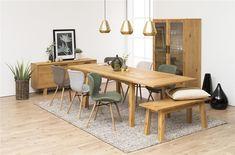 Banca din furnir de stejar Chara #homedecor #inspiration #interiordesign #homedesign #decoration #livingroom #decor #living Dining Bench, Dining Chairs, Dining Room, Buffet, Home Living Room, Wood Furniture, Desk, Retro, Home Decor