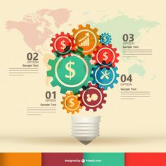 Free infography template design Free vector. More Free Vector Graphics, www.123freevectors.com