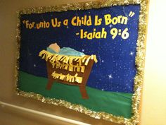 Christmas, nativity bulletin board