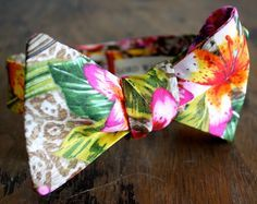 men's bow tie tropical - Google Search
