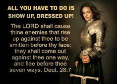 Sometimes, we need a reminder. Remember to put on the full armor of God and wear it @ all times!