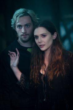 Quicksilver/Pietro Maximoff (Aaron Taylor-Johnson) and Scarlet Witch/Wanda Maximoff (Elizabeth Olsen) Ph: Jay Maidment. via: http://www.stitchkingdom.com/disney-author/Brad/