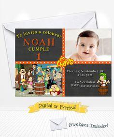Chalkboard El chavo del ocho Birthday Invitations by Andabloshop