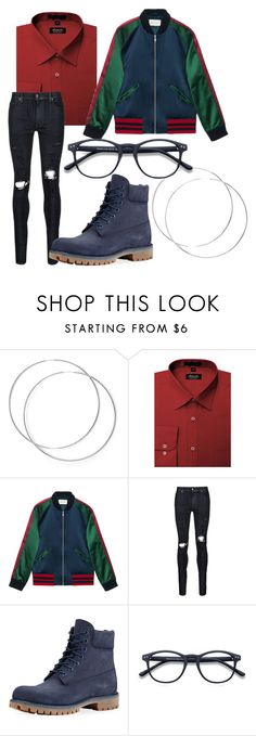 """""""Kuro"""" by the-mad-hattess on Polyvore featuring Gucci, AMIRI and Timberland"""