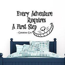 Wall Decals Quotes Alice in Wonderland - Every Adventure...