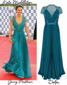 Vestido de festa das famosas: Kate Middleton