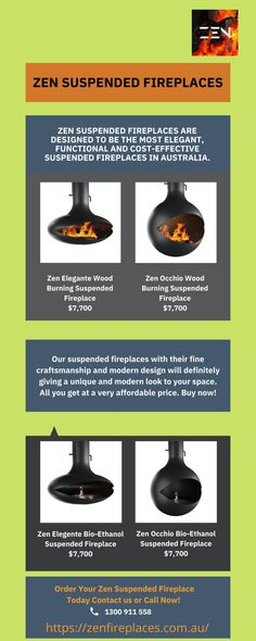 Browse the best quality suspended fireplaces online at Zen Fireplaces. We have a wide collection of best quality fireplaces at a reasonable cost. For more information or to buy fireplace online visit our online store.