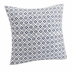 Moroccan pattern print on one side and plain white on other. Cushion comes with…