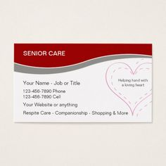92 best home health aide images on pinterest business cards carte senior home care business cards colourmoves