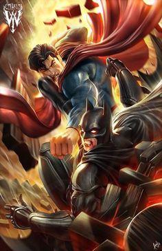 Batman v Superman by @wizyakuza.   #batmanvsuperman   #kurttasche  #successwithkurt