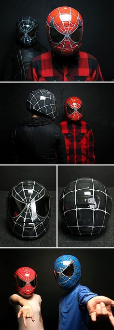 Giving the Predator helmet a run for its money, this Spider-Man Motorcycle Helmet is a serious contender for the most badass motorcycle helmet of all time.  Unlike the Predator offering, this Spiderman helmet has been DOT approved, which means it will actually protect you in an accident. Created by Dony Custom, the helmet comes in a multitude of colors including black, blue and of course the classic red. All of the colors use the same HJC CS-R1 helmet with smoke visor as the base.