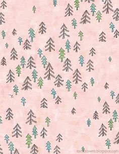 Pink Forest #forest #pinkpattern #pink #naive #sketch #illustration #watercolor #makemepattern  http://makemepattern.tumblr.com/