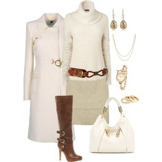 """Cream and Cognac"" by anniepro on Polyvore"