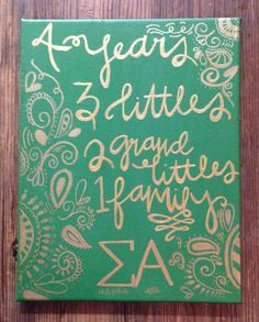 Change this for seniors graduation gift for Alpha Xi Delta. Phi Sigma Sigma, Kappa Alpha Theta, Alpha Chi, Delta Gamma, Sorority Letters, Sorority Crafts, Sorority Life, Senior Gifts, Grad Gifts