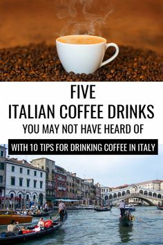 Before traveling in Italy, acquaint yourself with five lesser-known Italian coffee drinks. Plus, learn 10 rules for drinking coffee it Italy like a true Italian! Coffee Around The World, Travel Around The World, Around The Worlds, Italy Travel Tips, Budget Travel, Shopping Travel, Travelling Tips, Time Travel, Italy Coffee