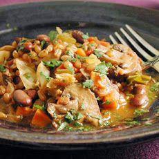 Simple Farro & Bean Stew-- Ingredients 113.25 grams red beans (soaked ...