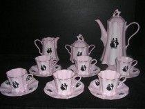 Kávová súprava ružová Olga 418 15 d.