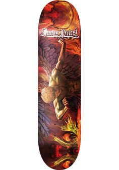 Judas-Priest Sad-Wings-of-Destiny, Deck, multicolored Titus Titus Skateshop #Deck #Skateboard #titus #titusskateshop