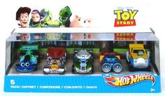 Hotwheels Hot Wheels Disney Toy Story 5-Pack Gift Set Includes Turbo Chunk, Lotso Speed, Wheelin' Woody, Blastin Buzz, Rex Rider Mattel 2010 by Mattel. $24.95. From the number one name in die-cast cars comes this line of Toy Story inspired cars based on your favorite characters!
