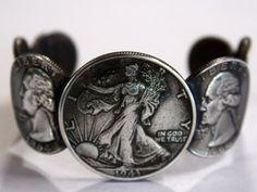 Morgan Silver Coin Cuff Bracelet