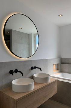 Bad Inspiration, Bathroom Inspiration, Home Decor Lights, Beautiful Bathrooms, Contemporary Decor, Bathroom Interior, Master Bathroom, New Homes, Decoration