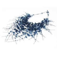Blue sporadic Necklace  by contemporary jewellery designer Alena Asenbryl