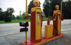 gas pumps | ... all galleries >> Favorite Landscapes - > Old gas pumps - Bennington VT