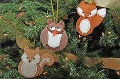 Image result for felt woodland animal ornaments