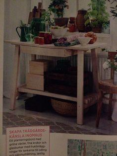 "Till växthuset ""Norråker"" 1495kr IKEA Decor, Mini Kitchen, Table, Furniture, Kitchen, Home Decor, Ikea"