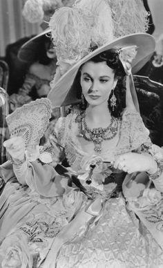 "Vivien Leigh in ""That Hamilton Woman,"" (1941). Costume design by René Hubert."