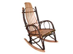 www.foothillsamishfurniture.com -- Hickory Rocker -- Enjoy the Timeless Beauty and Comfort of this Hickory Rocker. -- Do you need a rocker for your cabin? Repin if you do!