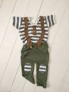 Image of Jack Sew darn cute, suspenders, boy clothes, boy romper, vintage suspenders, vintage baby, baby clothes, vintage outfit, sitter session, sitter outfit , photographer, baby session, baby photo, baby photography, newborn photography boho baby, boho style , boho clothes