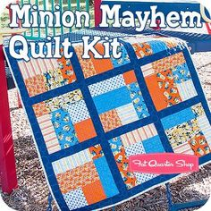 Minion Mayhem Quilt Kit<BR>Featuring 1 in a Minion by Quilting Treasures