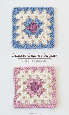 Classic+Granny+Square+-+Free+Crochet+Pattern+2.jpg 960×1,600 pixeles