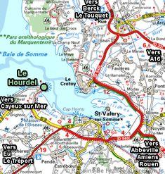 Saint Valery Sur Somme, Destination Voyage, Fief, Calais, Map, Places, Destinations, France Vacations, France Travel