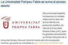 LA UNIVERSIDAD POMPEUFABRA SE SUMA AL ACCESO ABIERTO
