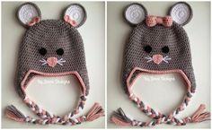 By Jenni Designs: Free Crochet Pattern: Toddler Mouse Hat