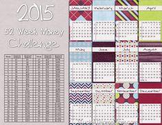 2015 - 52 Week Money Challenge Calendar - StuckAtHomeMom.com