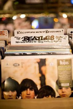 The Beatles...I So Remember Flipping Thru This Section A Million Times...Oh, Vinyl Beatles...