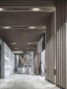 Cultural Center of Beicheng Central Park in Hefei,the entrance hall. Image © Yao Li, Sui Sicong