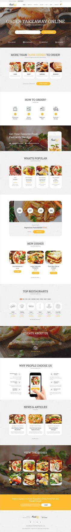 Fooddy 24/7 is a stylish and powerful #WordPress theme for online #food ordering and food #delivery website or application download now➩ https://themeforest.net/item/fooddy-247-food-ordering-delivery-theme/19731095?ref=Datasata