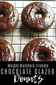 Chocolate glazed donuts Drizzle Me Skinny!Drizzle Me Skinny! Weight Watcher Desserts, Petit Déjeuner Weight Watcher, Plats Weight Watchers, Weight Watchers Snacks, Weight Watchers Breakfast, Skinny Recipes, Ww Recipes, Low Calorie Recipes, Recipies
