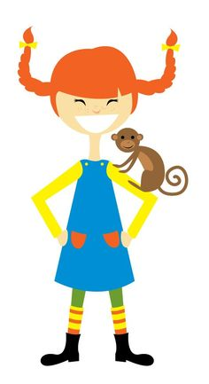 """Pippi Longstocking and her monkey friend, Mr. Nilsson, were among my childhood heroes, with her funny, impish quips, like this quote: """"Please ma'am, may a real lady's tummy gurgle? Because if not, I may as well make up my mind to be a pirate straightaway."""" Oh, Pippi! ~~ Houston Foodlovers Book Club"""